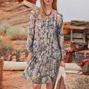 Sundance Province Rose Dress Silk Floral Unlined